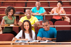 Afrykańscy studenci collegu Zdjęcia Stock