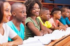 Afrykańscy studenci collegu zdjęcia royalty free