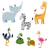 Afrykańscy zwierzęta Ustawiają 1 Ilustracja Wektor