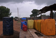 afrykańska benzynowa stacja fotografia royalty free