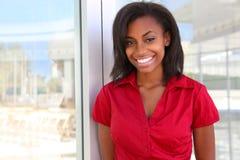 afrykańska biznesowa ładna kobieta Obrazy Stock