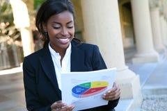Afrykańska Biznesowa Kobieta zdjęcia stock