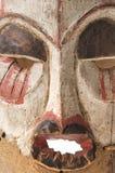 Afrykańska drewniana maska na białym tła zakończeniu up Obraz Royalty Free