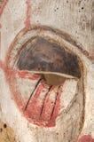 Afrykańska drewniana maska na białym tła zakończeniu up Zdjęcia Royalty Free