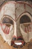 Afrykańska drewniana maska na białym tła zakończeniu up Fotografia Stock