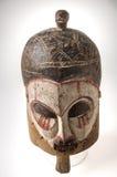 Afrykańska drewniana maska na białym tle Obrazy Royalty Free