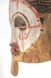 Afrykańska drewniana maska na białym tle Fotografia Royalty Free