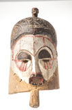 Afrykańska drewniana maska na białym tle Obraz Stock