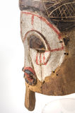 Afrykańska drewniana maska na białym tle Obrazy Stock