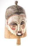Afrykańska drewniana maska na białym tle Fotografia Stock