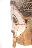 Afrykańska drewniana maska na białym tle Obraz Royalty Free