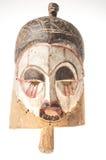 Afrykańska drewniana maska na białym tle Zdjęcia Stock