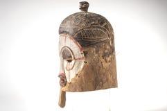 Afrykańska drewniana maska na białym tle Zdjęcia Royalty Free