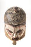 Afrykańska drewniana maska odizolowywająca na białym tle Obrazy Stock