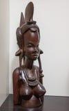 Afrykańska drewniana rzeźba kobieta Obrazy Royalty Free