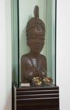 Afrykańska drewniana rzeźba kobieta Fotografia Stock