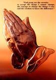 Afrykańska mosiężna plakieta modlitwa zdjęcie royalty free