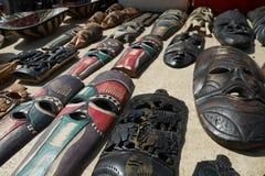 Afrykańska pamiątka - rzeźbić maski Obrazy Royalty Free