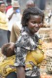 afrykańska piękna matka Zdjęcie Stock
