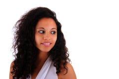 afrykańska piękna metyski portreta kobieta Obraz Stock
