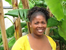 afrykańska piękna południowa kobieta Obrazy Royalty Free