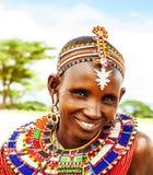 Afrykańska plemienna kobieta Obrazy Royalty Free