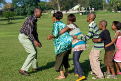 afrykańska rodzinna gemowa sztuka zdjęcie stock