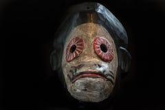Afrykańska sztuki rzeźba na czarnym tle Fotografia Stock