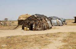 Afrykańska wioska Zdjęcie Royalty Free