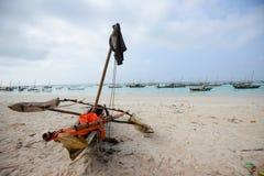 afrykański łódkowaty połów Fotografia Royalty Free