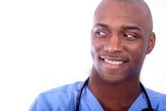 afrykański amrican męska pielęgniarka zdjęcie royalty free