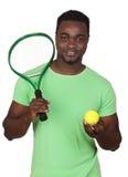 afrykański atrakcyjny mężczyzna kanta tenis Obraz Royalty Free