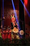 Afrykański bębenu przedstawienie w nowego roku przedstawieniu zdjęcia stock