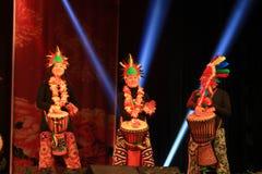 Afrykański bębenu przedstawienie w nowego roku przedstawieniu zdjęcia royalty free