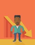 Afrykański biznesmen nie udać się ilustracji