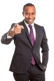 afrykański biznesowy mężczyzna Zdjęcia Royalty Free