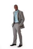 afrykański biznesowy przystojny mężczyzna Fotografia Royalty Free