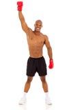 Afrykański bokserski zwycięzca Zdjęcia Stock