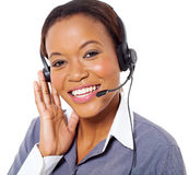 Afrykański centrum telefoniczne operator Obrazy Royalty Free