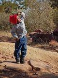 afrykański chłopcze Obraz Royalty Free