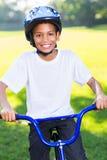 Afrykański chłopiec bicykl Fotografia Royalty Free