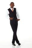 afrykański czarny biznesmen zdjęcie stock