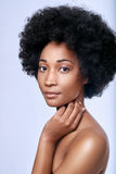 Afrykański czarny piękno w studiu Fotografia Royalty Free