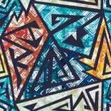 Afrykański geometryczny bezszwowy wzór royalty ilustracja