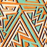 Afrykański geometryczny bezszwowy wzór ilustracji