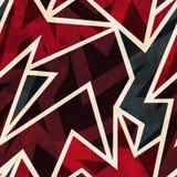 Afrykański geometryczny bezszwowy wzór z grunge skutkiem ilustracja wektor