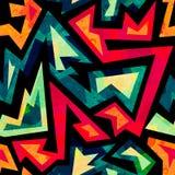 Afrykański geometryczny bezszwowy wzór z grunge skutkiem ilustracji