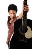afrykański gitary mienia mężczyzna Obrazy Stock