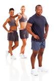 Afrykański gym instruktor obraz stock