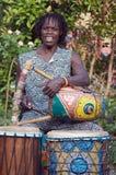 afrykański harpist Obrazy Royalty Free